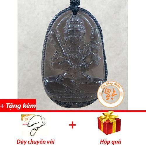 Mặt Dây Chuyền Phật Bản Mệnh Hư Không Tạng Thạch Anh Khói