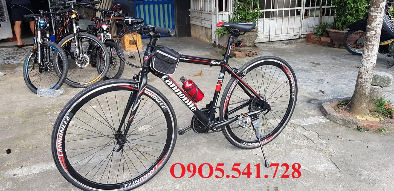 Mua Xe đạp đường trường Cannonlle khung nhôm màu đỏ đen