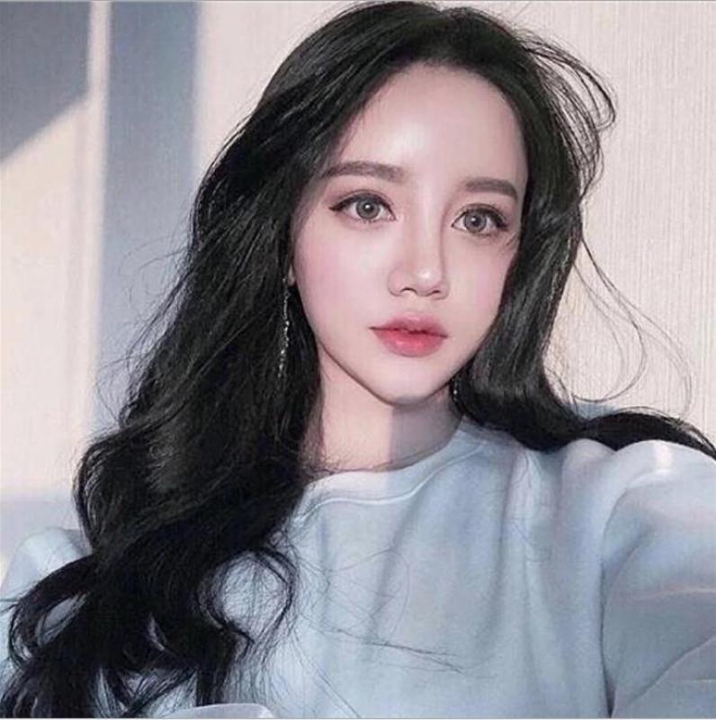[TẶNG KÈM LƯỚI] Tóc giả nữ nguyên đầu sợi tơ Hàn Quốc CÓ DA ĐẦU - TG873 ( MÀU ĐEN ) nhập khẩu