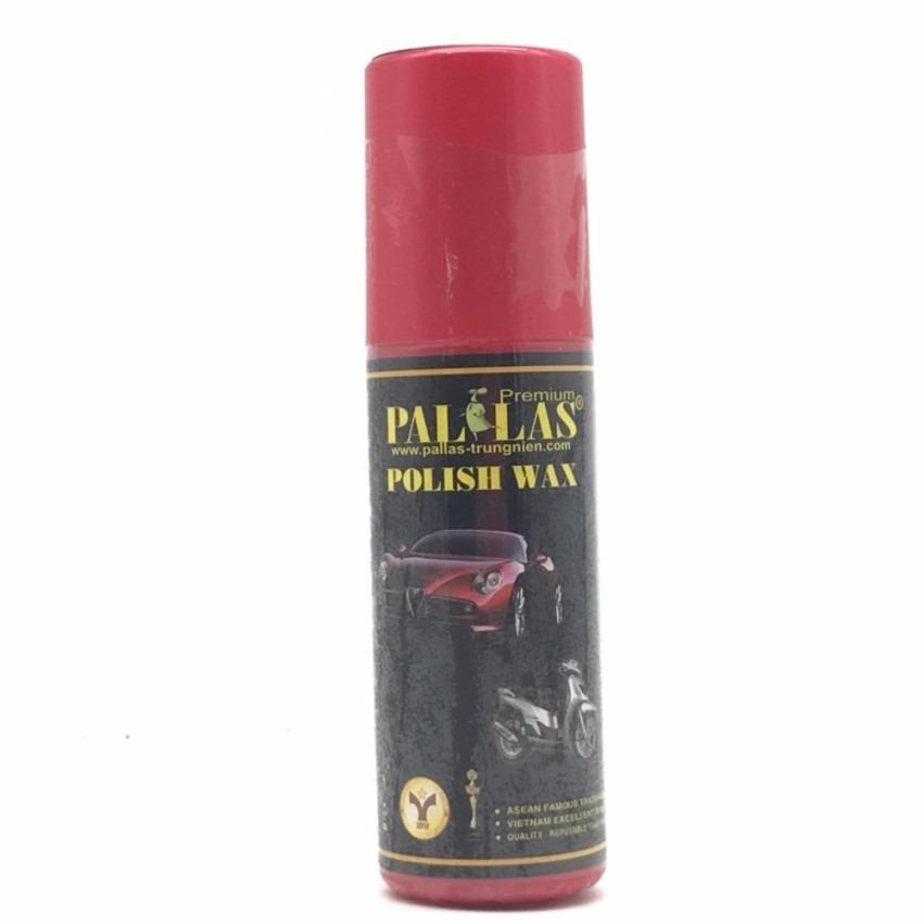 Chai xịt dưỡng bóng sơn và bóng da, làm đen nhựa nhám Pallas Polish Wax 120ml