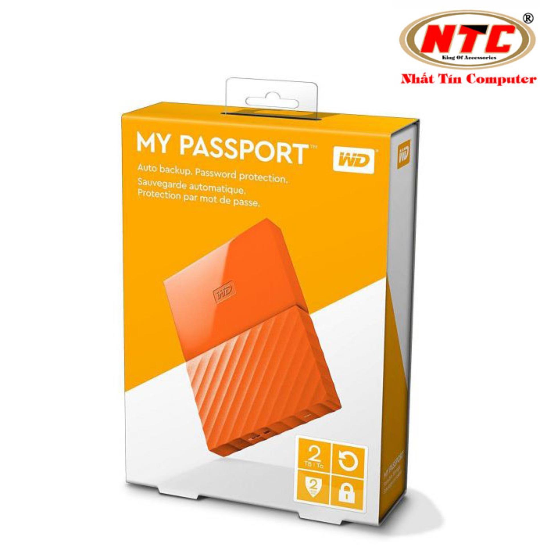 Ổ cứng di động HDD Western Digital My Passport 2TB - Model 2017 (Cam)