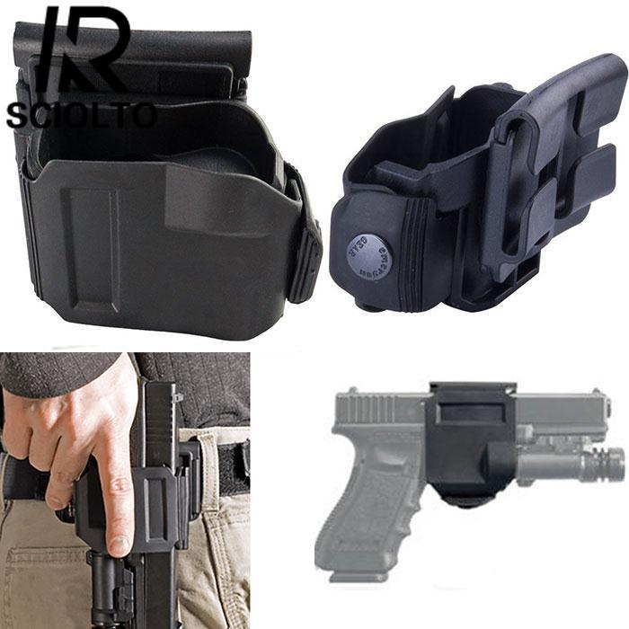 SCIOLTO SPORTS Tactical 360 Rotation Belt Clip Right Hand MOLLE Holster for G 17 19 22 23 - intl