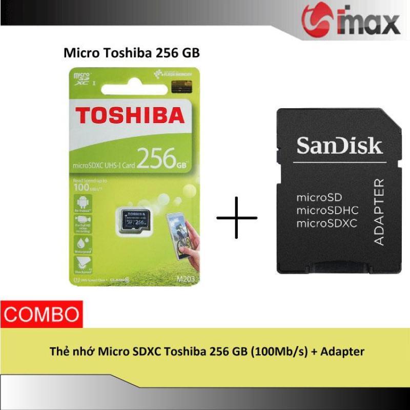 Thẻ nhớ Micro SDXC Toshiba 256 GB (100Mb/s) + Adapter