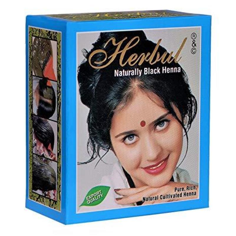 Thuốc nhuộm tóc thảo dược màu đen Herbul Naturally Black Henna nhập khẩu