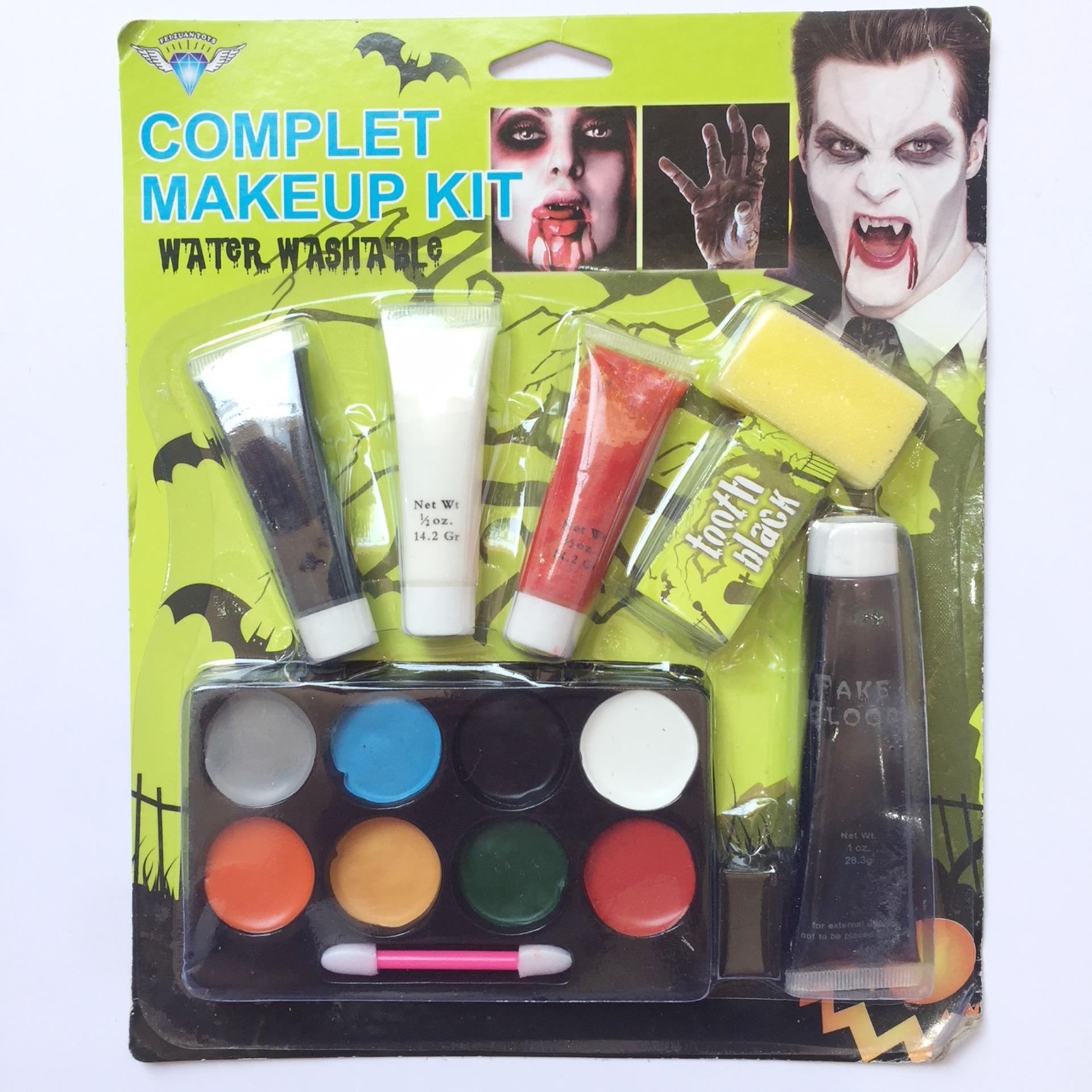 Hình ảnh Bộ vẽ mặt hóa trang Halloween vỉ nhiều màu