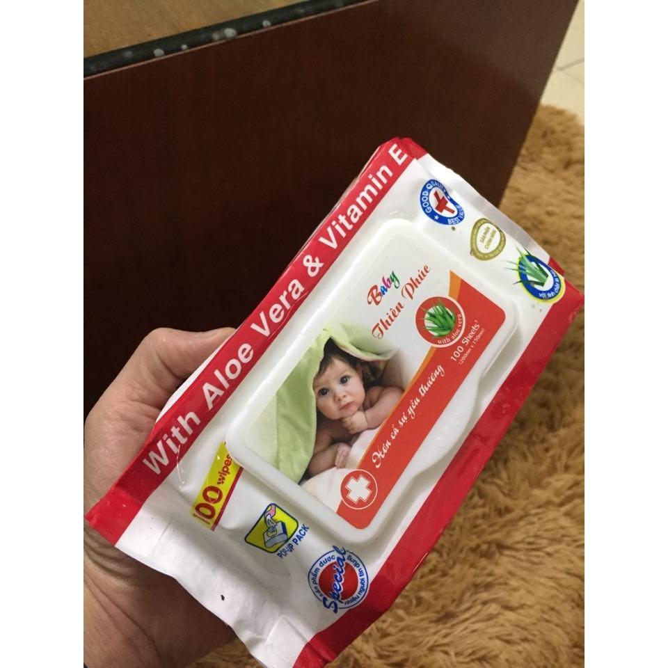Combo 5 gói giấy ướt baby có nắp (100 tờ/gói)