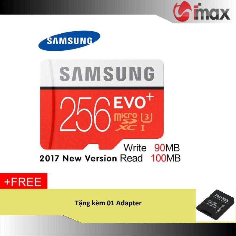 Thẻ nhớ 256GB Samsung Evo Plus New (100 Mb/s) + Adapter