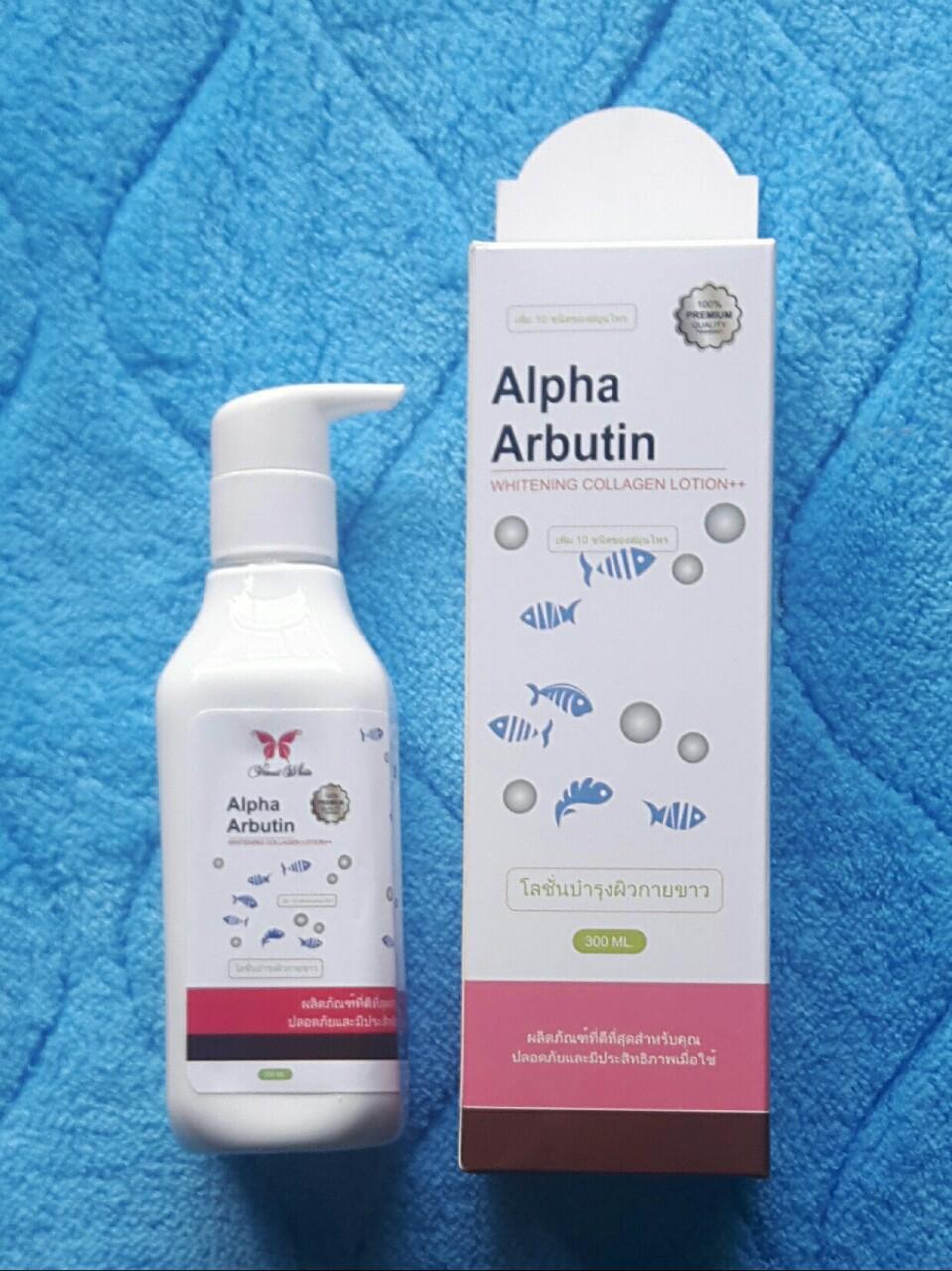 Hình ảnh Dưỡng trắng da ngày và đêm 300ml Alpha Arbutin Whitening Collagen Lotion ++