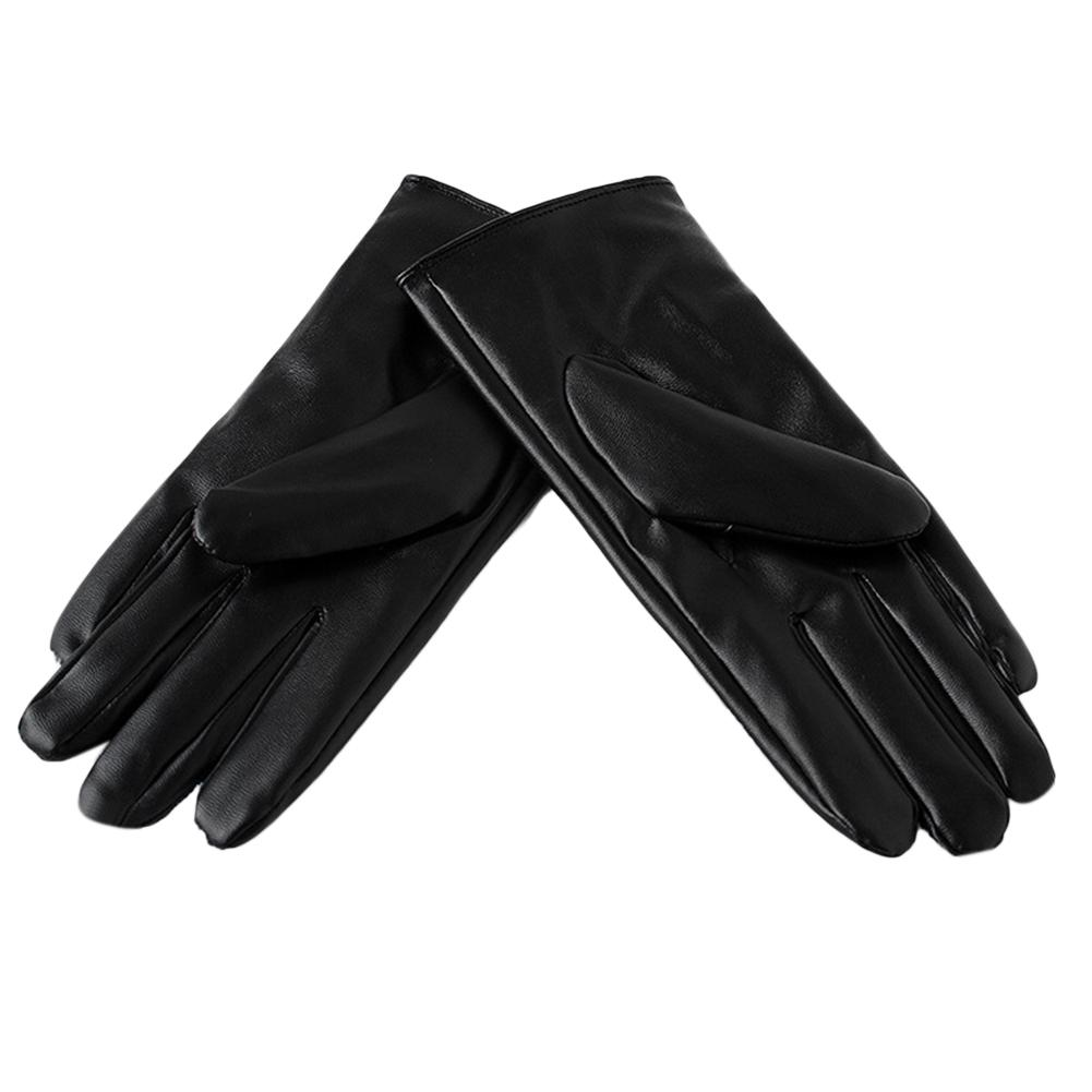Hossen Women Screen Touch Gloves Winter Thick Warm Windproof PU Leather Stylish Gloves