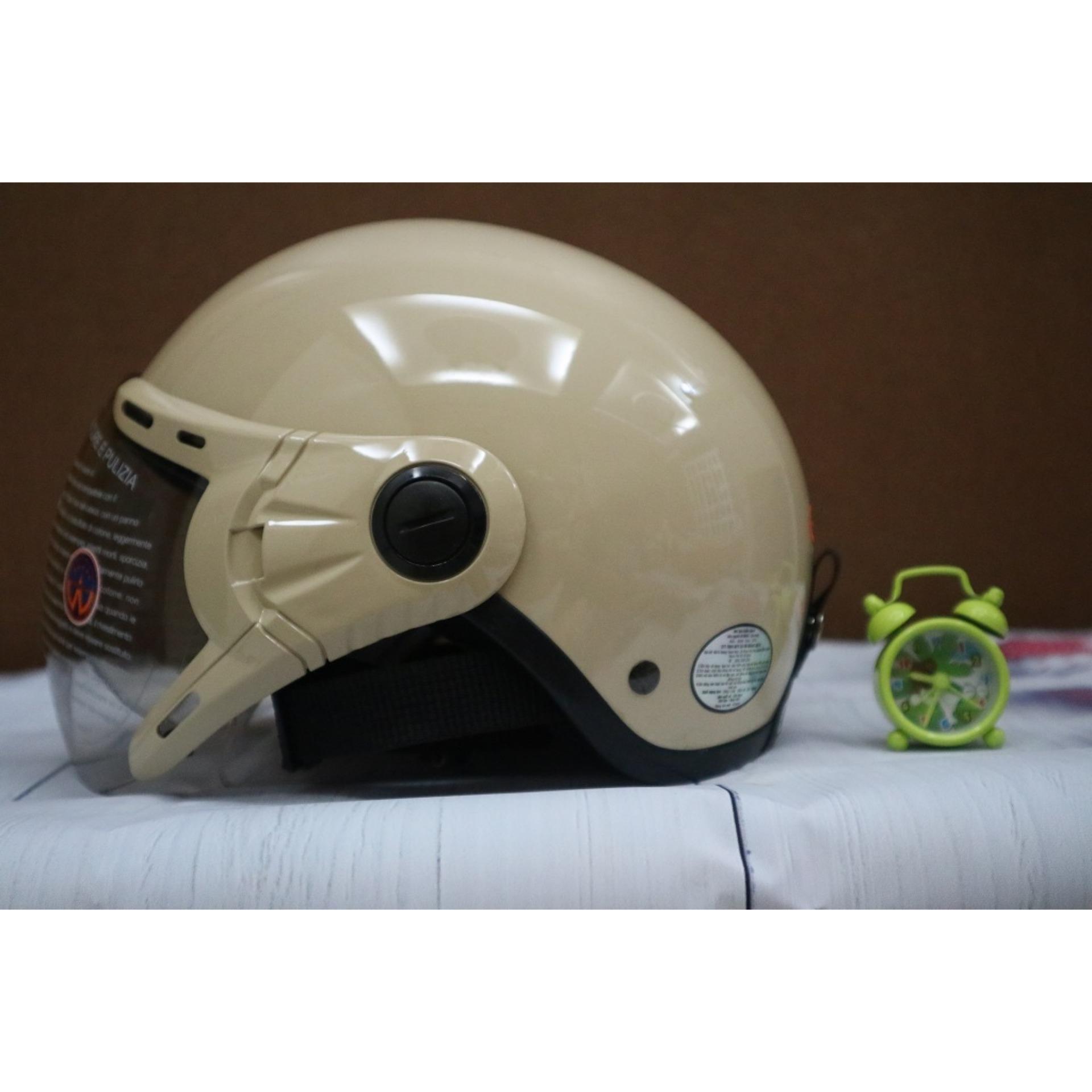 Mũ bảo hiểm GRS A33k (kem) Nhật Bản