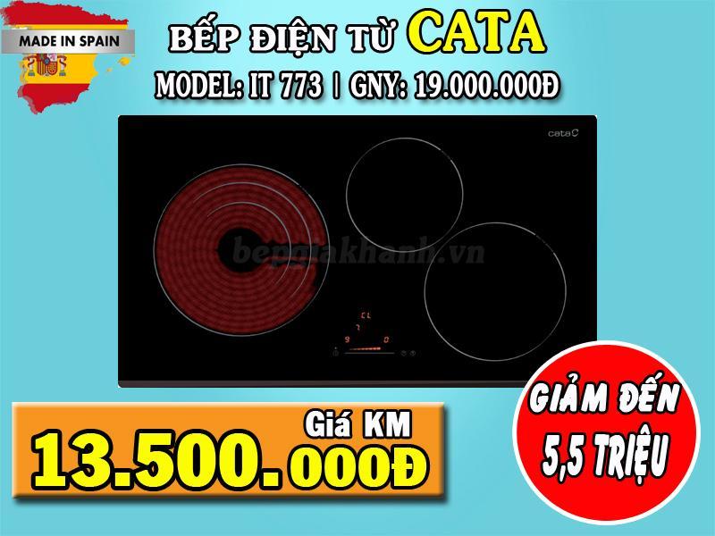 Giá Bếp hồng ngoại kết hợp từ Cata IT 773, bếp điện từ đôi, bếp điện từ giá rẻ, bếp từ hồng ngoại kết hợp, bếp đôi điện từ và hồng ngoại, bếp điện từ, bếp điện từ hồng ngoại, bếp từ hồng ngoại Điện máy Thiên Hò