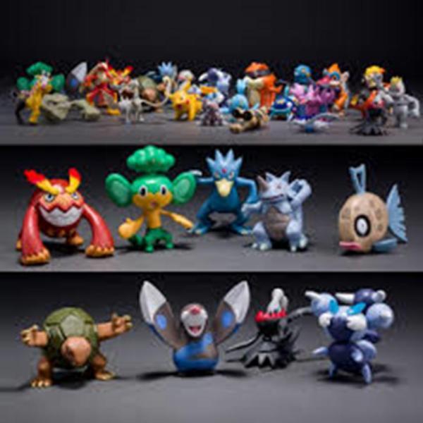Bộ 24 tượng thú Pokemon Go cao 2-3cm ngẫu nhiên 391 TI (nhiều màu)
