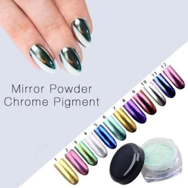 Bột màu giả kim hiệu ứng Gương trang trí móng tay (1gram Trắng Xà Cừ #4) giá rẻ