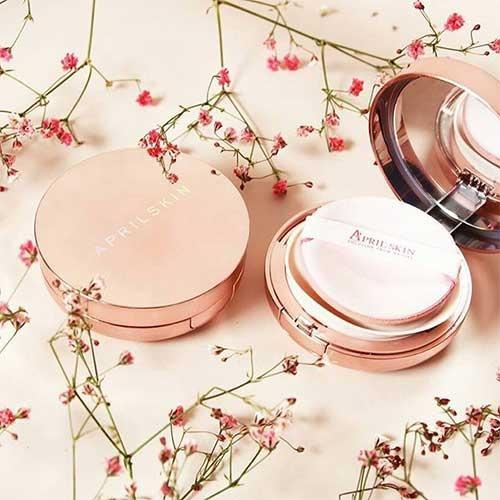 Hình ảnh Phấn nước April Skin Magic Snow Fixing Foundation hồng mới, Hàn Quốc