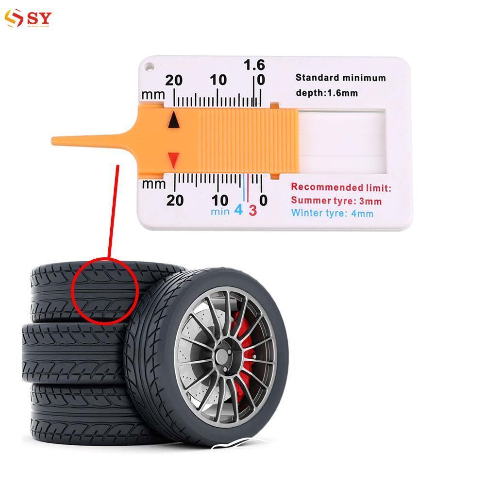 So Young Car Motor Trailer Roda Tire Tread Depth Gauge Measurment Measure Tools - intl