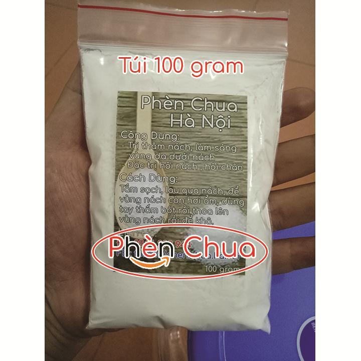 Bột Phèn Chua Hà Nội trị Hôi Nách, Hôi Chân - Túi 100g nhập khẩu