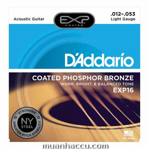 Bộ Dây Đàn Guitar Acoustic DAddario EXP16