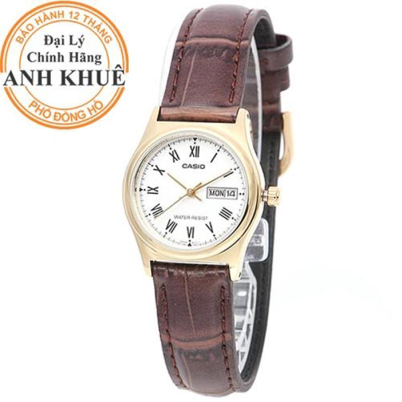 Đồng hồ nữ dây da Casio Anh Khuê LTP-V006GL-7BUDF