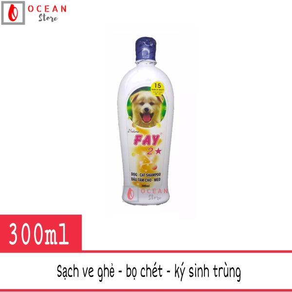 Sữa tắm diệt ve ghẻ, bọ chét, dưỡng lông thơm lâu cho chó mèo - Fay 2 sao 300ml