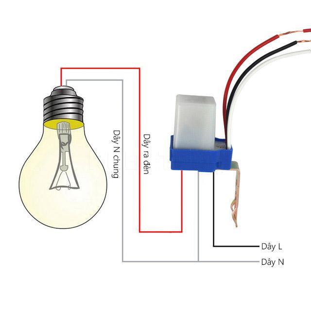 Công tắc cảm biến ánh sáng AS10 220v 10A. công tắc cảm ứng ánh sáng, công tắc bật tắt đèn tự động