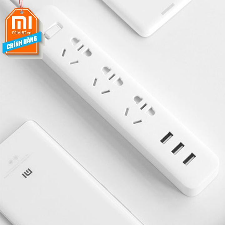 Ổ Điện Xiaomi Power Strip 3 cổng USB Quick Charge 2.0