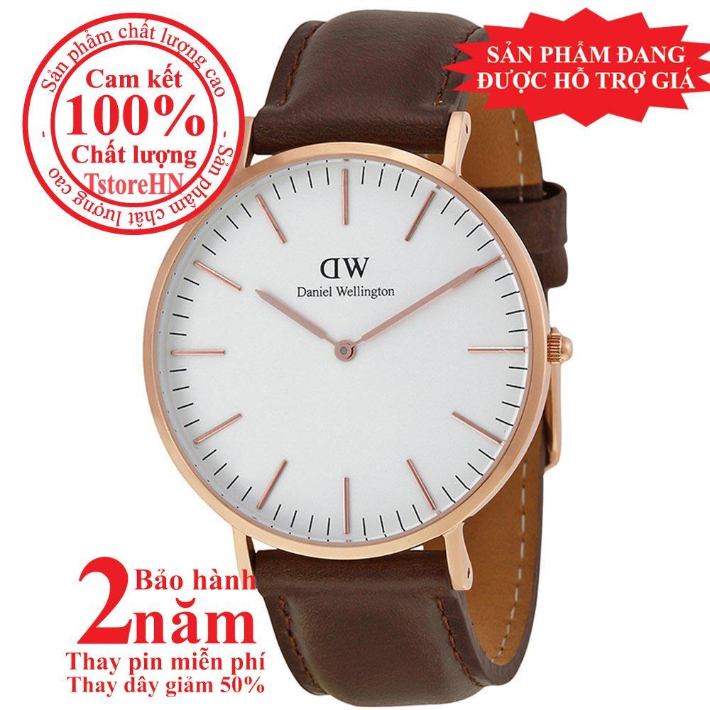 Nơi bán Đồng hồ nam DW Classic Bristol 40mm - Màu vàng hồng (Rose Gold), Dây da nâu, DW00100009 / 0109DW