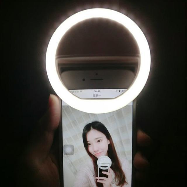 Hình ảnh Đèn LED Selfie kẹp điện thoại