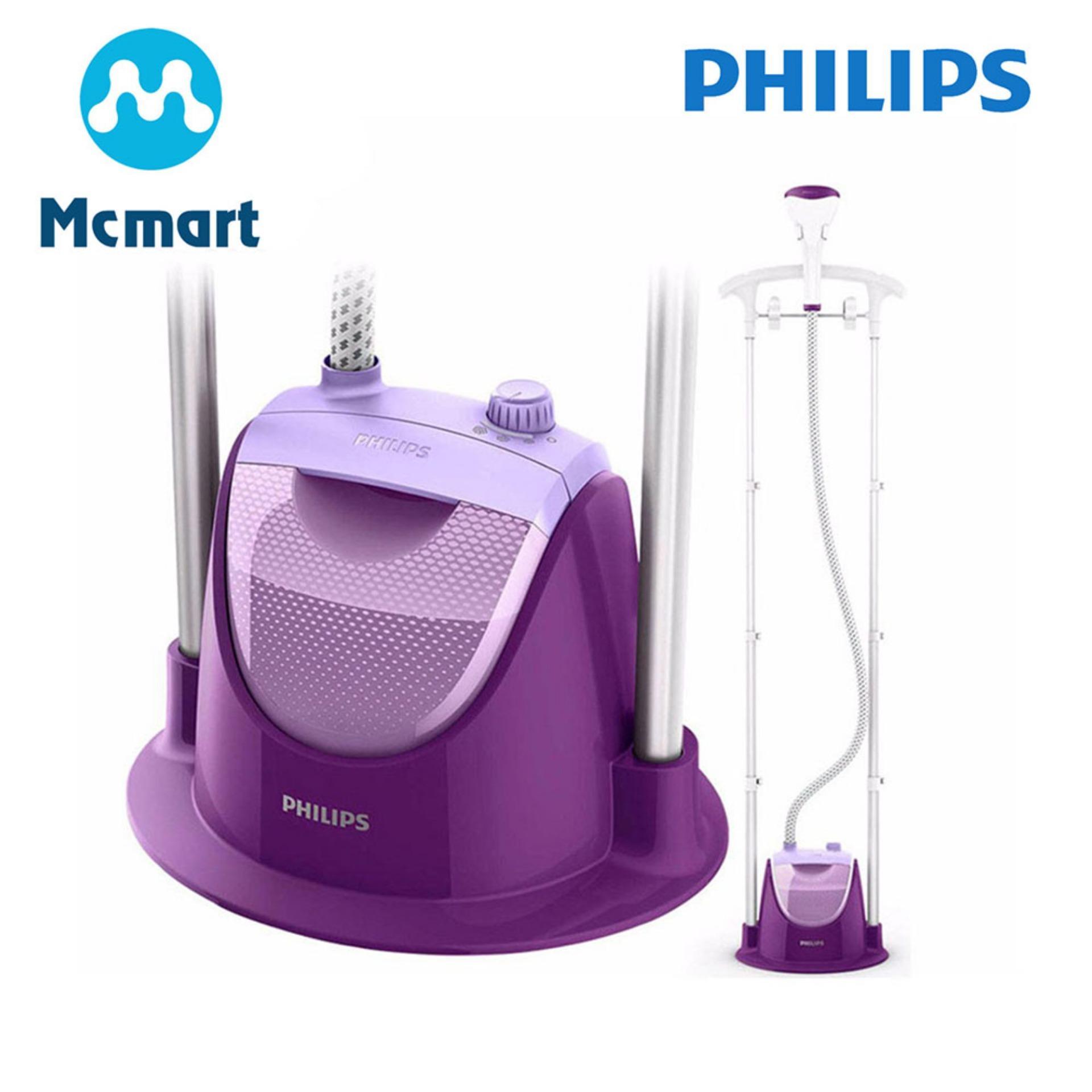 Hình ảnh Bàn ủi hơi nước đứng Philips GC508 (Tím) - Hàng nhập khẩu