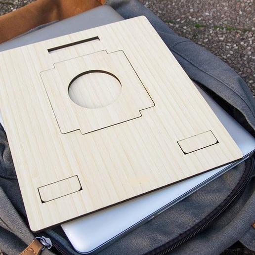Hình ảnh Kệ laptop woody