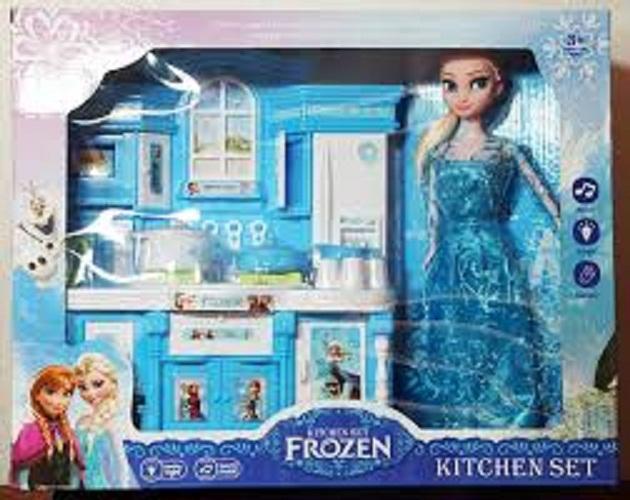 Hình ảnh Bộ đồ chơi nấu ăn kèm búp bê,Do choi nha bep,Do choi nau an,Đồ chơi nhà bếp có đèn nhạc Gf822