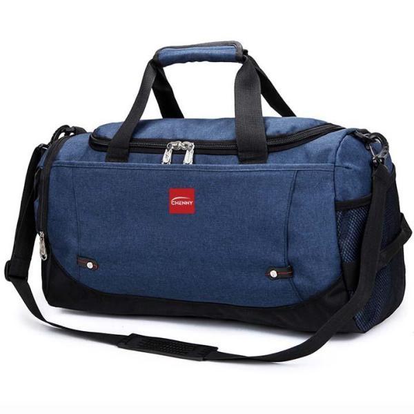 Túi xách du lịch thể thao loại lớn cao cấp DL01  (xám - xanh) chống nước dành cho cả nam và nữ, túi xách cỡ đại thời trang