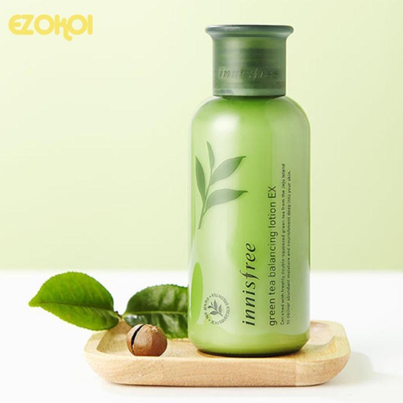 Nước hoa hồng Innisfree Green Tea Balancing Skin EX 200ml cao cấp