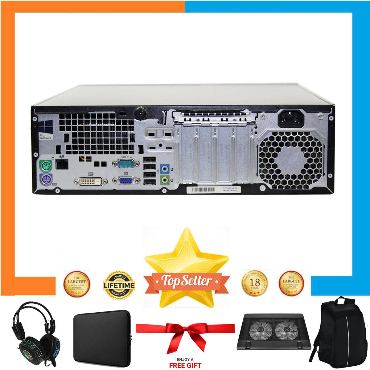 Máy tính chơi GameHP ProDesk 400 G1 SFF Nguyên Bản, Chạy  Pentium G3250, Ram 8GB, SSD 240GB, HDD 2TB + Bộ Quà Tặng