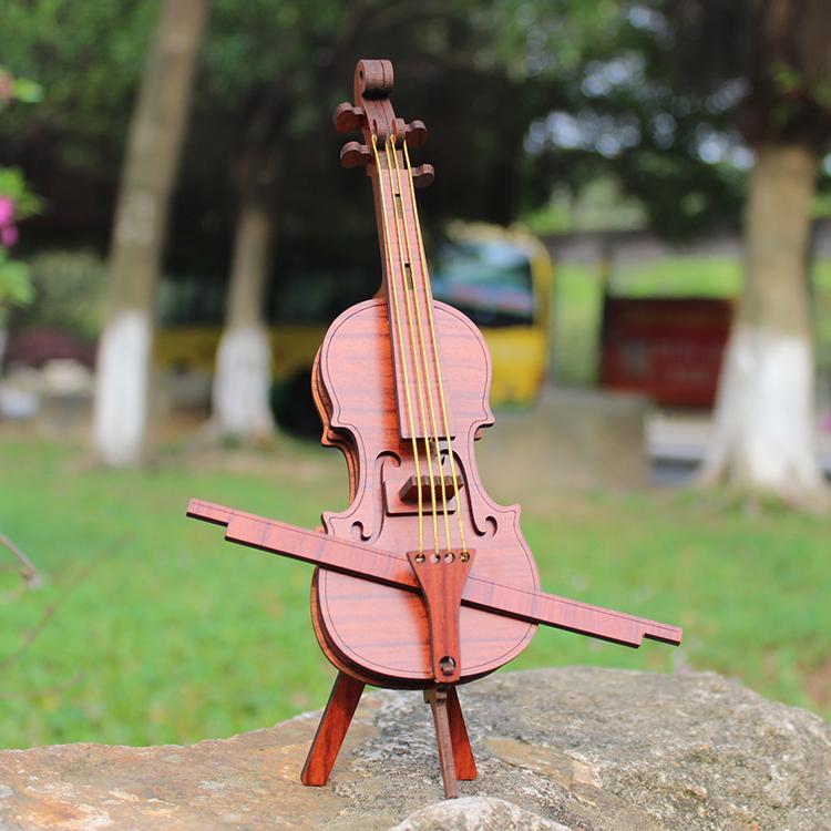 Hình ảnh Đồ chơi lắp ráp gỗ 3D Mô hình Đàn Violin