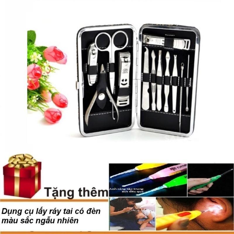 Bộ chăm sóc móng 12 món + Tặng dụng cụ lấy ráy tai có đèn nhập khẩu