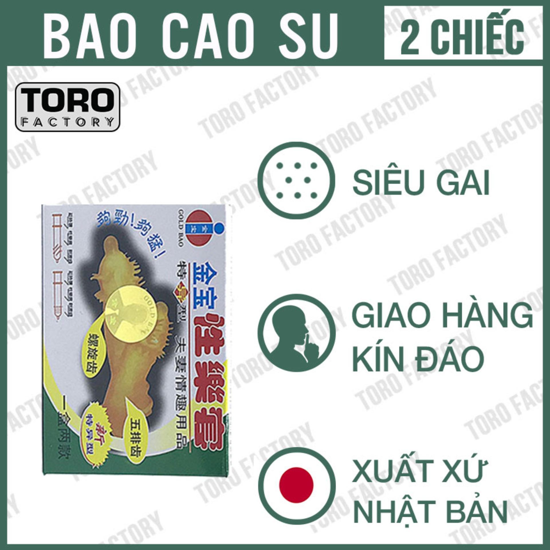 Bao cao su Gân, Gai siêu lớn Gold Gai - Hộp 2 chiếc - Toro nhập khẩu