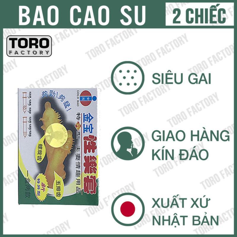 Bao cao su Gân, Gai siêu lớn Gold Gai - Hộp 2 chiếc - Toro cao cấp