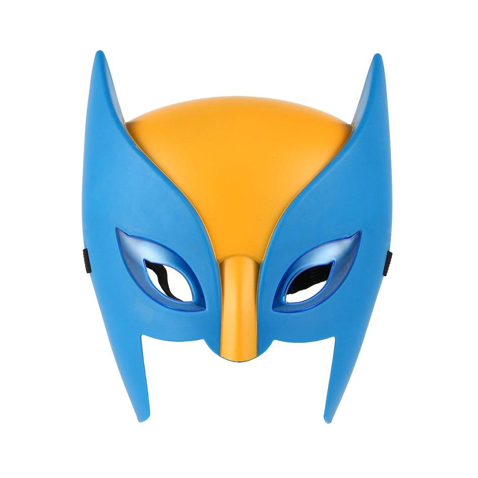 OH Wolverine Mask Performance Property Superhero Mask For Children With Light Blue&Yellow