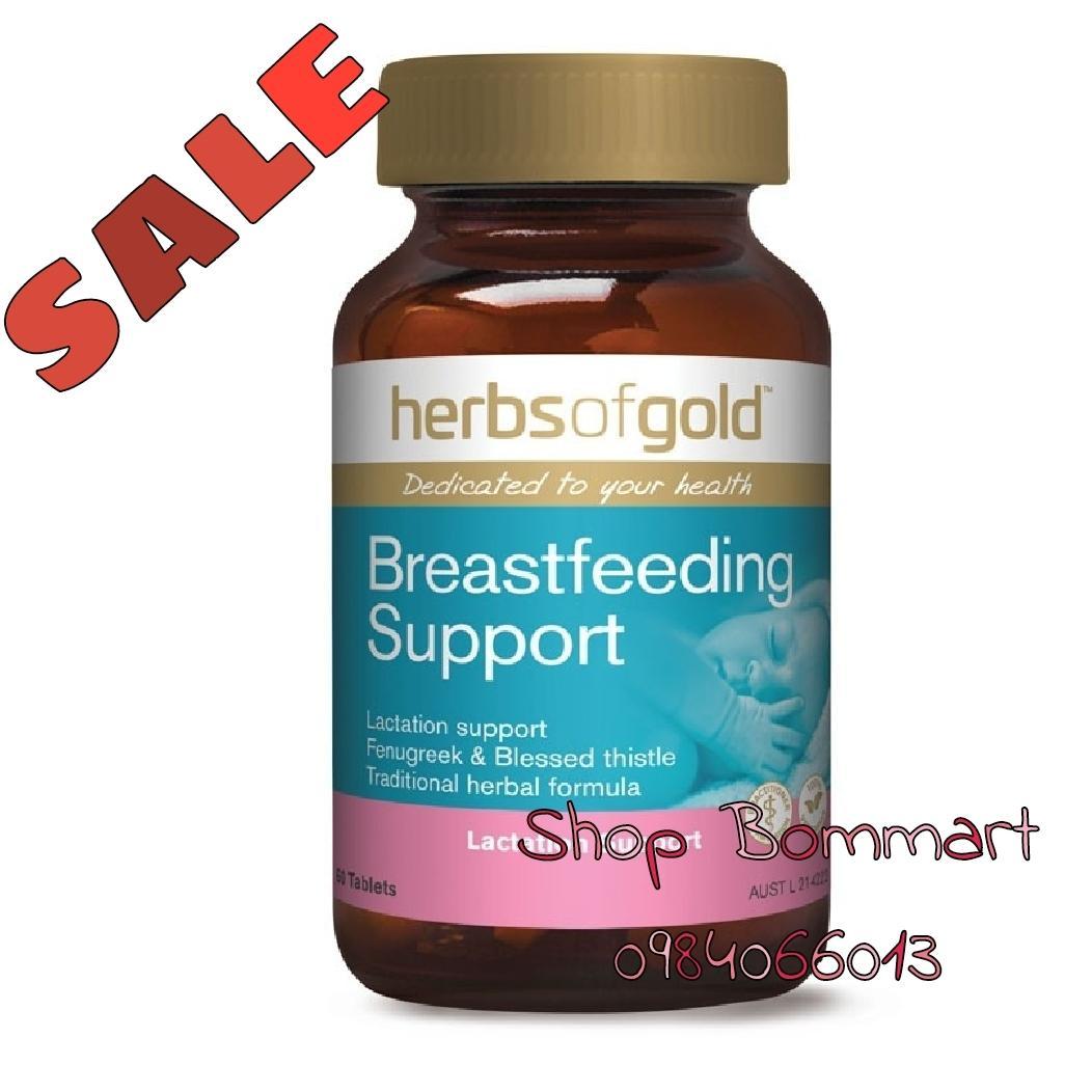 Viên uống lợi sữa úc Herbs of gold breastfeeding support hộp 60 viên
