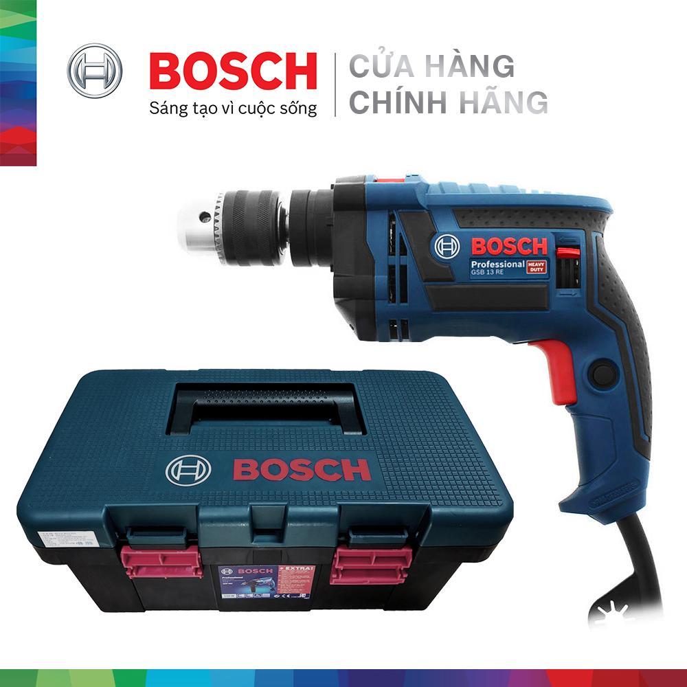 Máy khoan động lực Bosch GSB 13 RE kèm bộ phụ kiện FREEDOM 90 chi tiết