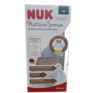 Bình sữa NUK PP Nature Sense 150ml núm ti Silicone S1M BS151 thumbnail
