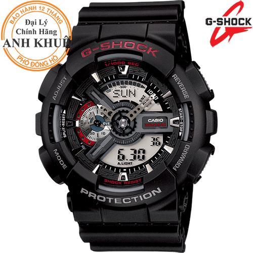 Nơi bán Đồng hồ nam dây nhựa G-SHOCK chính hãng Casio Anh Khuê GA-110-1ADR