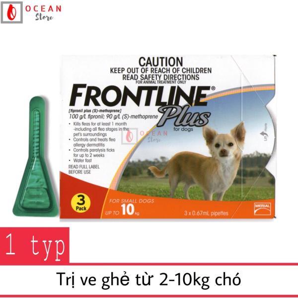 Thuốc nhỏ gáy trị ve ghẻ, bọ chét cho chó - 1 ống Frontline Plus chó 2-10kg  (1 tube 2-10kg - No Box)