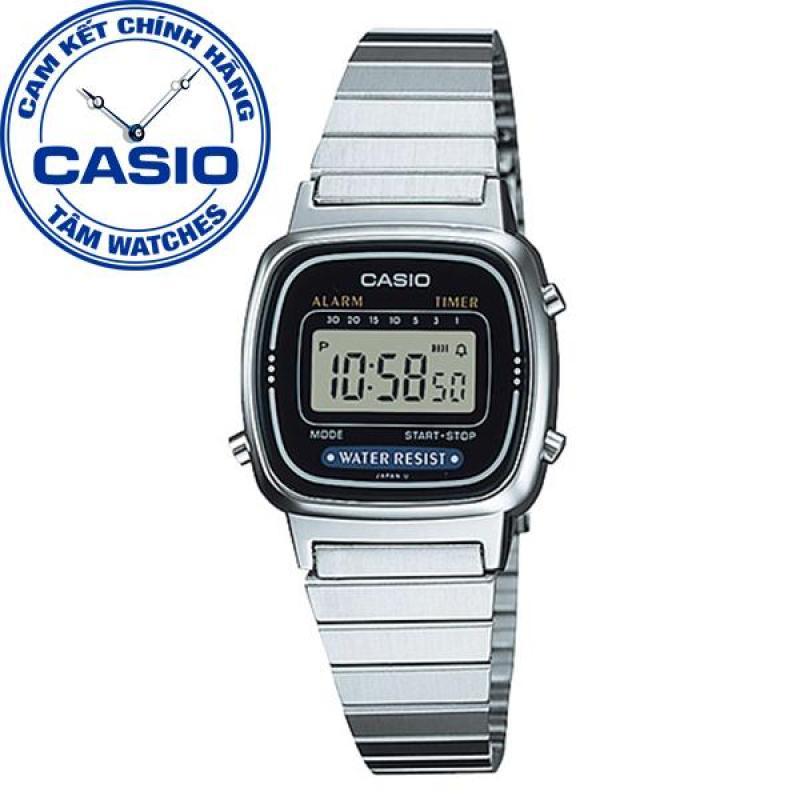 Đồng hồ nữ dây thép không gỉ Casio Standard Anh Khuê LA670WA-1DF