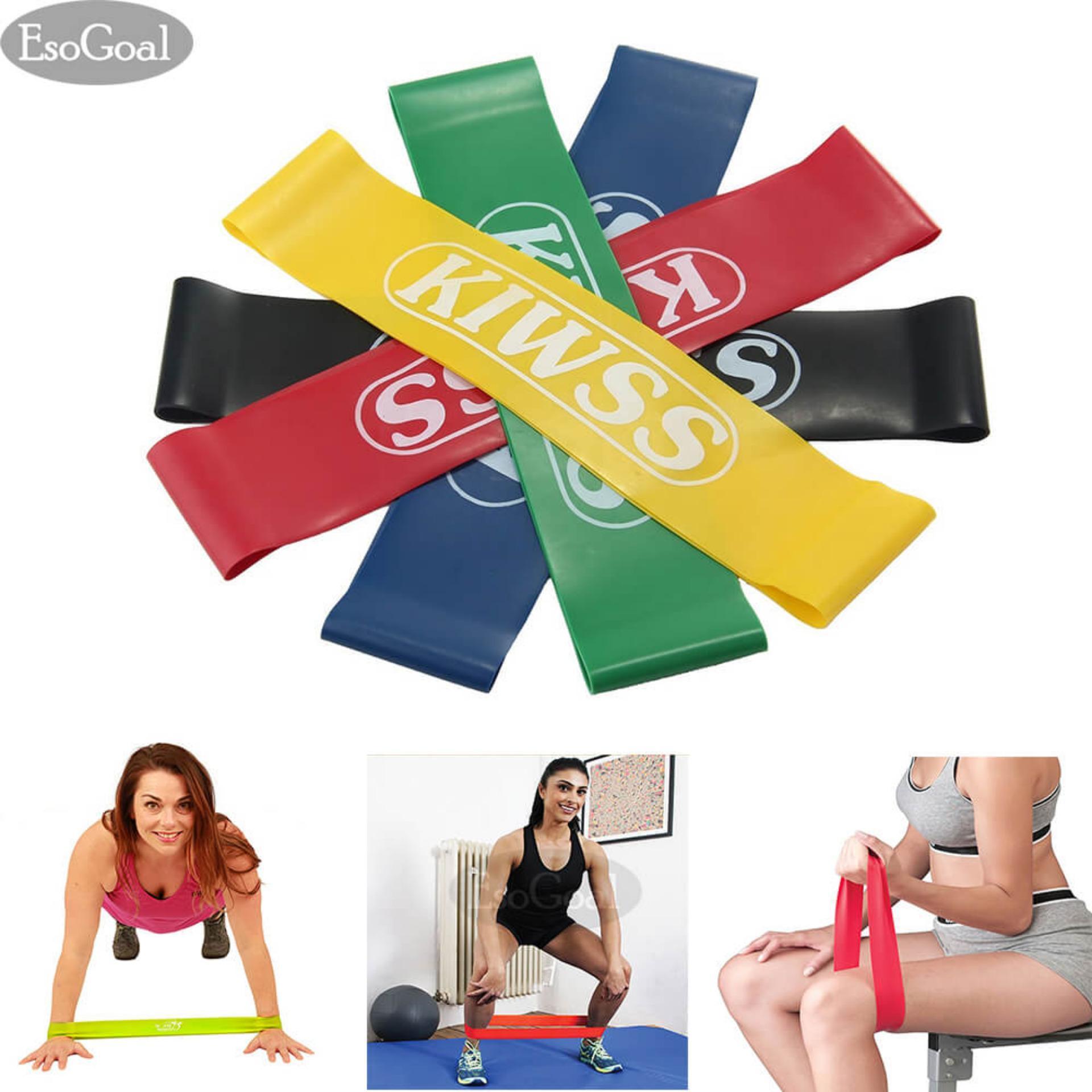 Hình ảnh EsoGoal Kháng Vòng Tập Thể Dục 5 Tập Luyện Ban Nhạc Bộ Căng Kéo Lên Hỗ Trợ Ban Nhạc tập thể dục cho CrossFit Tập Yoga và Vật Lý Trị Liệu (5 cái)-quốc tế