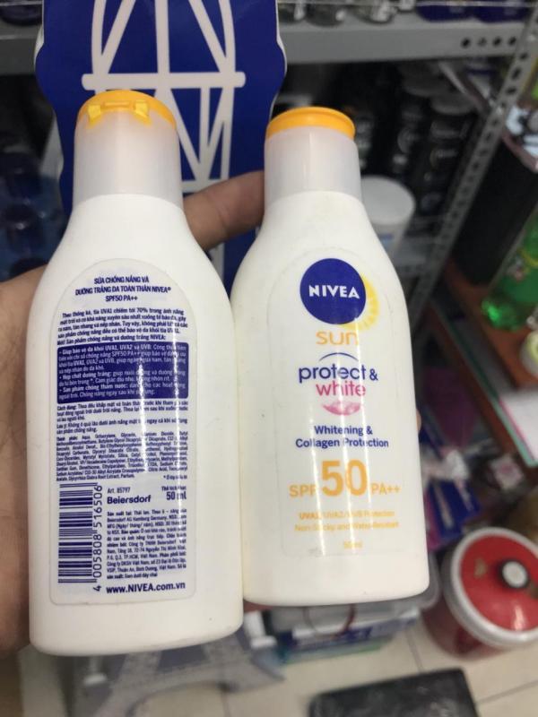 Sữa Chống Nắng Và Dưỡng Trắng Da Toàn Thân SPF50 PA++ 85797 (50ml) (chai trắng)