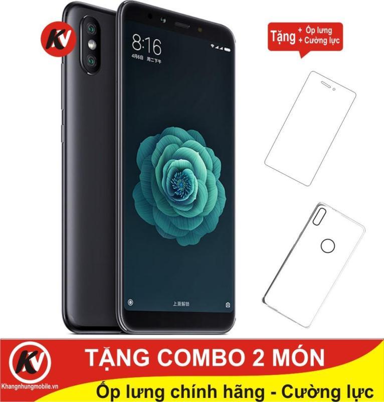 Xiaomi Mi 6X 64GB Ram 6GB Kim Nhung (Đen) - Hàng nhập khẩu + Ốp lưng + Cường lực
