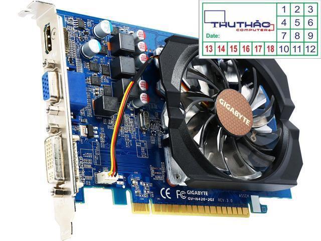 Hình ảnh card vga gigabyte n420 n430 gt420 gt430 2g ram3/128 bit