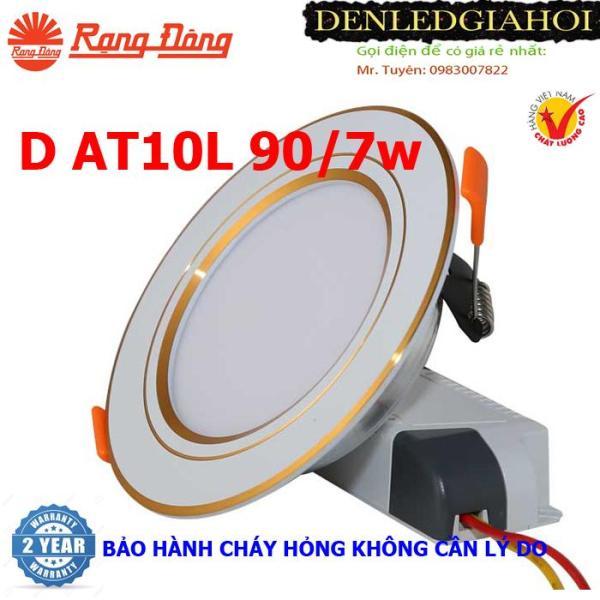 Đèn led âm trần 7W Rạng Đông, KHOÉT LỖ 9Omm, Model LED downlight D AT10L 90/7w