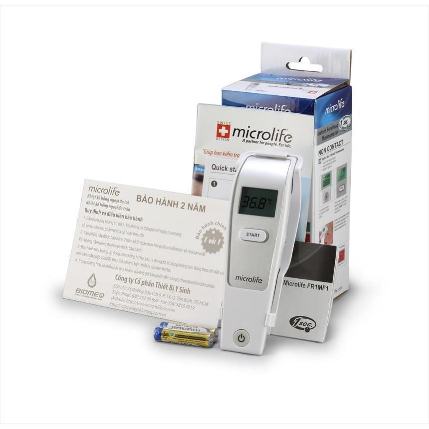Nhiệt kế điên tử đo trán không thủy ngân cho bé Microlife FR1MF1 chính hãng